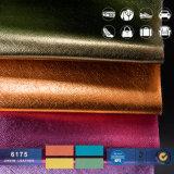 PVC総合的な革金属SaffianoパテントPVC