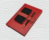 Het Notitieboekje van het Kunstleer met de Elastische Houders van de Telefoon