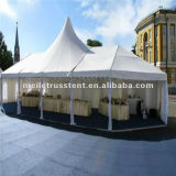 High Peak Nigéria Africa Transparent Party Wedding 15X20m Transparent Roof Wedding Guangzhou Belle Mobile Clear Span Tent