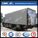 Cimc Scania 포좌를 가진 Huajun 6*4에 의하여 냉장되는 트럭
