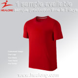 別のロゴの綿のTシャツとのHealongの卸し売りブランクデザイン