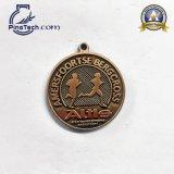 Modificado para requisitos particulares alrededor de la medalla con final antiguo del oro