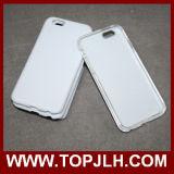 3D caja en blanco del teléfono de la sublimación TPU +PC para el iPhone 7