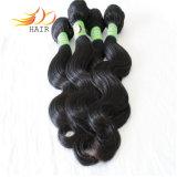 o cabelo de 100% 7A Remy tece o cabelo Burmese do Virgin da onda do corpo