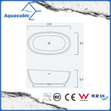 목욕탕 타원형 단단한 지상 독립 구조로 서있는 욕조 (AB6105)