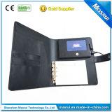Nieuwe LCD van het Ontwerp VideoBrochure met de Dekking van het Leer