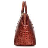 Обложка из натуральной кожи коричневого цвета Croc печать Duffle Bag для поездки в выходные дни