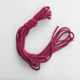 Красный круглый Braided шнур хлопка