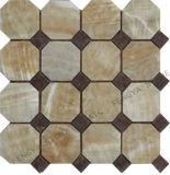 Marmeren Stone Mozaïek Interieur Muurtegel, Octagon Stone Mozaïek patroon, stenen mozaïek voor vloertapijt