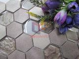 Azulejo de mosaico cristalino del oro del hexágono de la mezcla de aluminio ligera del color (CFM1029)