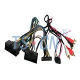 El coche saca audio del cable del harness/de alambre