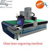 Промышленный стеклянный рекламируя гравировальный станок лазера, кристаллический гравировальный станок