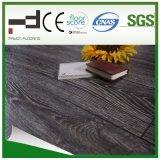 le gris de chêne de 12mm a ciré le plancher américain V-Biseauté de stratifié d'épreuve de l'eau de type