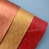 多彩な格子デザイン模造PUの革、人工的な袋の革