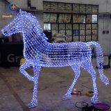 Navidad caliente Light Zoo Animal 3D Christmas Lighting Horse de Sale para Holiday Decoration