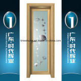 Aluminiumflügelfenster-Haus-Tür-Innentür mit dekorativem Glaspanel