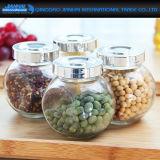 Frasco de vidro do frasco do armazenamento da forma de Flate para o Kitchenware e o Candyj