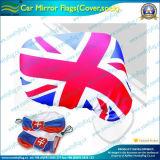 차 미러 덮개 탄력 있는 뜨개질을 한 장식적인 깃발