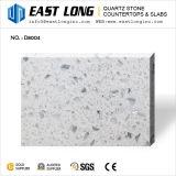 台所カウンタートップのためのあるガラス穀物の平板が付いている白い水晶