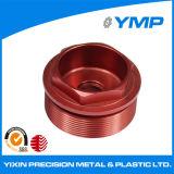 Maquinado CNC de OEM girando con aluminio anodizado rojo