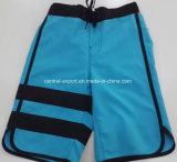Swimwear liso do Short da placa dos homens de cor do contrato do poliéster da cintura de Oeko-Tex