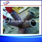 /Round-Rohr-Gefäß CNC-Plasma-Ausschnitt-Stahlmaschinerie der Schiffsbautechnik quadratische