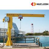 Grue de potence de pilier de pivotement de nucléon avec le contrôle de pendant d'élévateur à chaînes