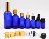 Fles van het Glas van de Essentiële Olie van de Capaciteit van Mult de Blauwe met Deksels (NBG03)