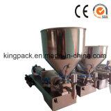 Halbautomatische kosmetische Sahnelotion-Füllmaschine