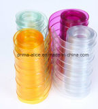 Cortinas horizontais do PVC /Ribbed do plástico da tela