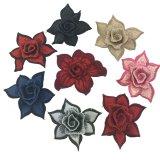 laço do bordado da correção de programa da flor 3D para acessórios do vestuário