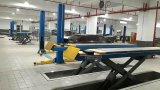 Scissor l'elevatore di sollevamento dell'automobile di capienza chilogrammi di 4500 e di disegno