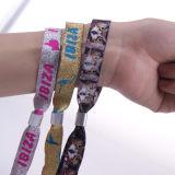 Custom promozionale Nylon Woven Wristband con Rdif per Events