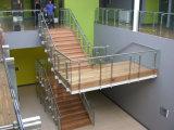 옆 마운트 계단을%s 현대 스테인리스 유리제 난간 또는 유리 방책