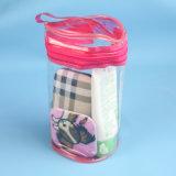 PVC構成のブラシのための透過プラスチック装飾的なパッキング袋