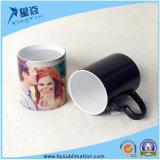 Taza cambiante del color de cerámica de la sublimación negra