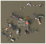 Kaiqiロープ網およびPlaysets (KQ60135A)の屋外の上昇システム演劇