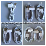 30 -Pin al cable de carga USB para iPhone / iPad / iPod - Blanco