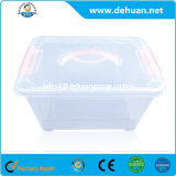 Boîte de rangement en plastique transparente pour ménage