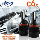 차 트럭을%s 30W 3200lm C6s H8 H9 H11 옥수수 속 LED 보충 Headlamp