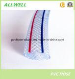 Шланг сада воды плетения волокна PVC пластичный сизоватый Braoded