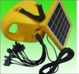 Lanterna solar recarregável da lâmpada com o banco da potência solar e o USB
