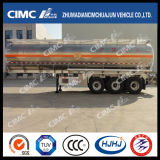 Cimc carburante-aceite de la aleación de aluminio de Huajun 3axle/petrolero de la gasolina/Diesel/LPG
