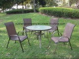 Muebles del acero 5PCS Moder fijados por Table+Chairs