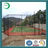 De pvc Met een laag bedekte Omheining van de Link van de Ketting, de Omheining van de Tennisbaan