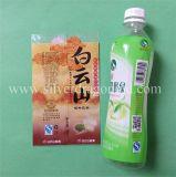 Escritura de la etiqueta plástica de la funda del encogimiento para la botella de agua