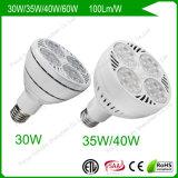 ETL regulable LED PAR PAR30/bombilla de inundación de la luz de lámpara/PAR38 para la joyería/Paños/Retail/Tiendas de Comestibles 10