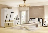Moderne Volwassen Slaapkamer die met Melamine wordt geplaatst