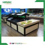 Prateleira de supermercado Rack de exibição de produtos hortícolas Frutas de madeira