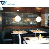 現代商業人工的な大理石のレストランは表の議長を務める